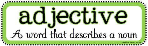 kata sifat adjectives belajar bahasa inggris