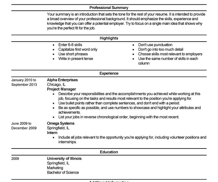 basic resume for beginners  best resume examples