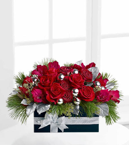Natures Wonders Florist Hidden Christmas Gift Of Roses Tfweb263