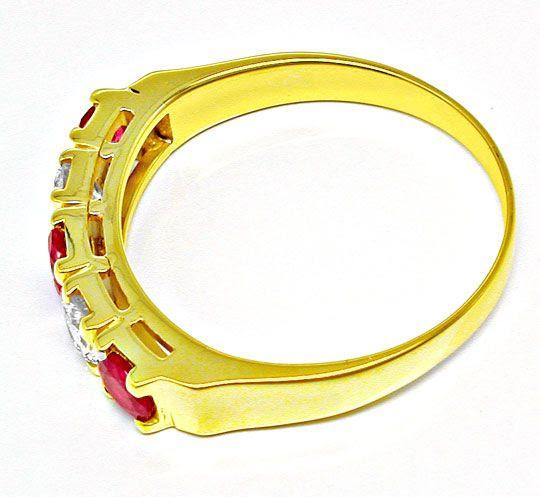 Foto 3, Neu! Brillant-Ring, Tolle Spitzenrubine Gelbgold Luxus!, S8430