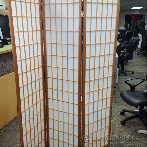 Wood Frame Tri Fold Oriental Style Privacy Screen Divider Allsold
