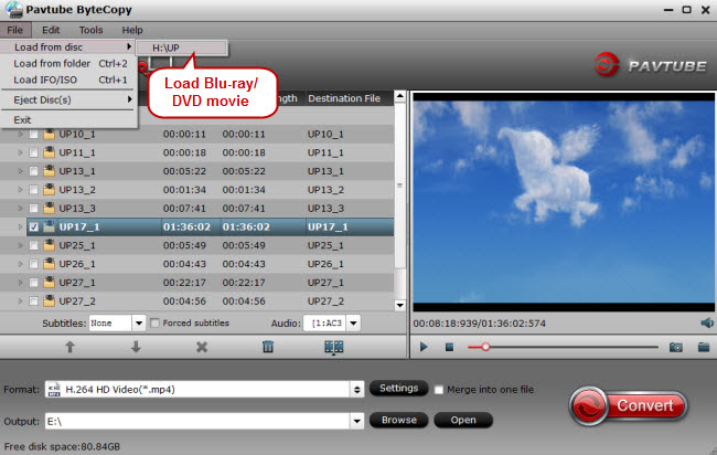 load Blu-ray