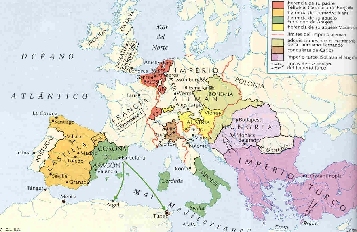 Resultado de imagen de europa de carlos V