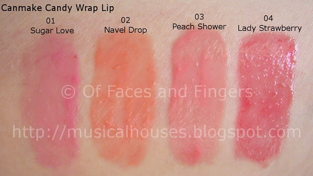 Canmake Candy Wrap Lip Swatches