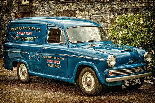 Classic company van