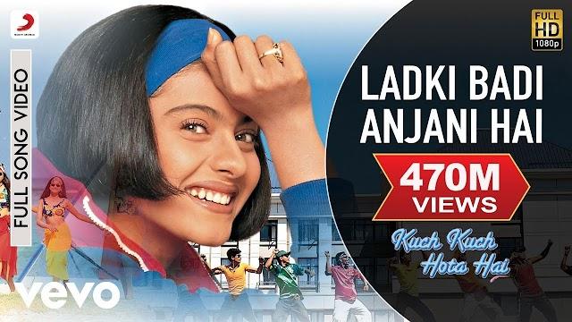 Ladki badi anjani hai lyrics - Kumar Sanu & Alka Yagnik    lyrics for romantic song