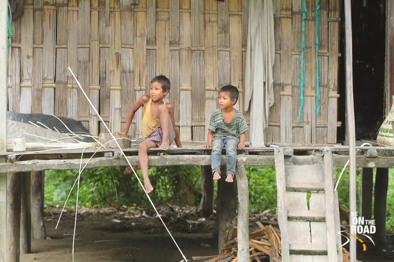 Tribal Kids, Mishing village, Panbari, Assam, India