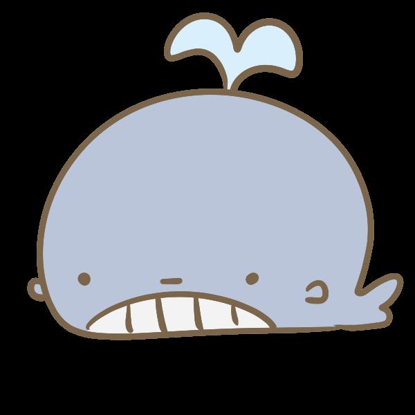 かわいいクジラのイラスト かわいいフリー素材が無料のイラストレイン