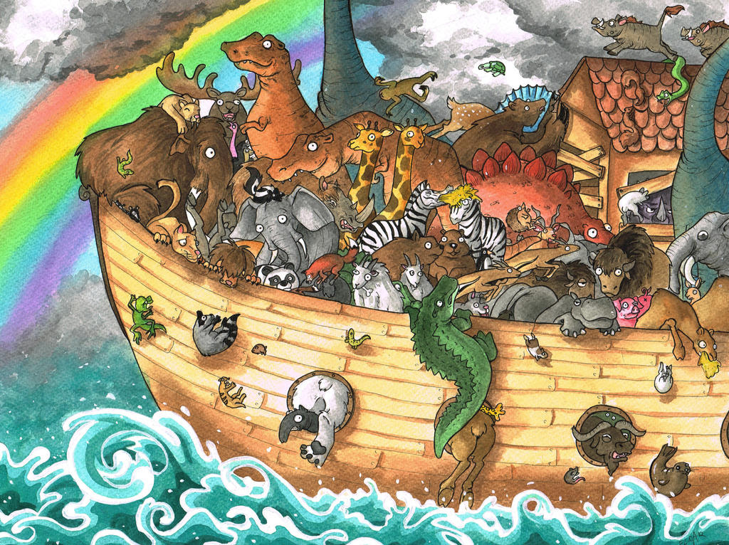 Image result for noah's ark dinosaurs
