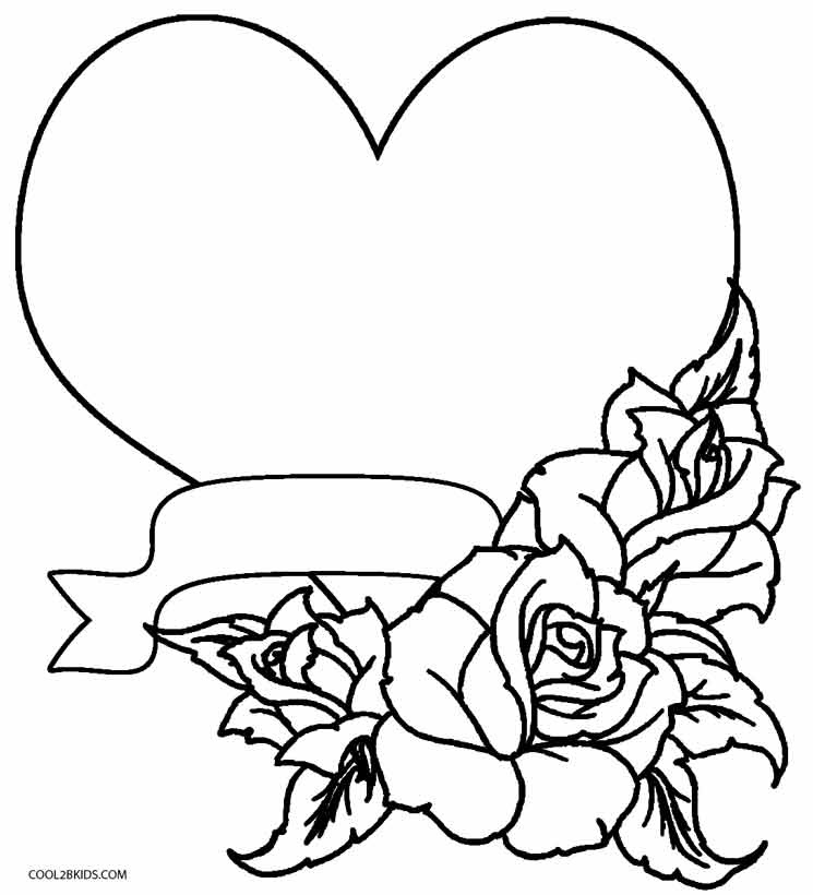 4400 Rose Flower Coloring Pages Printable  Images