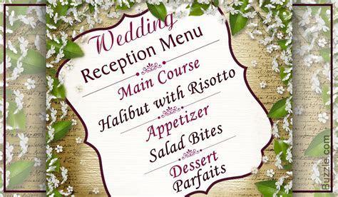7 Budget friendly Ideas for Simple Wedding Reception Menus