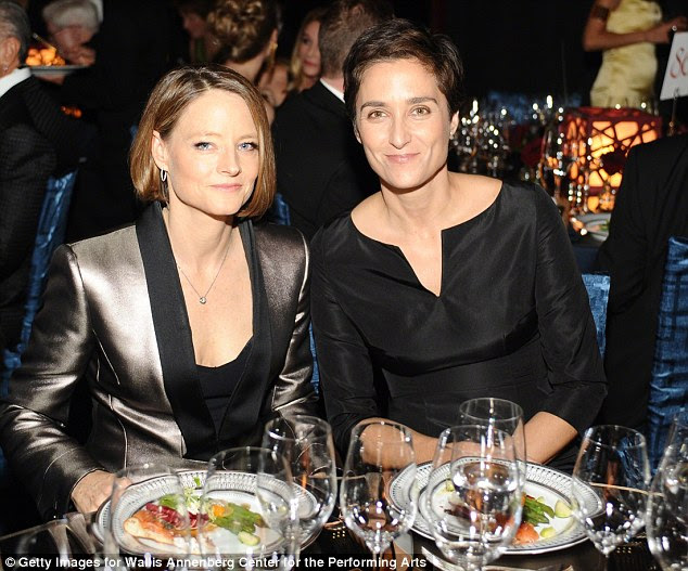 Congratulations: Jodie Foster and Alexandra Hedison, pictured in October, wed in a secret ceremony over the weekend, her rep confirmed to MailOnline on Wednesday