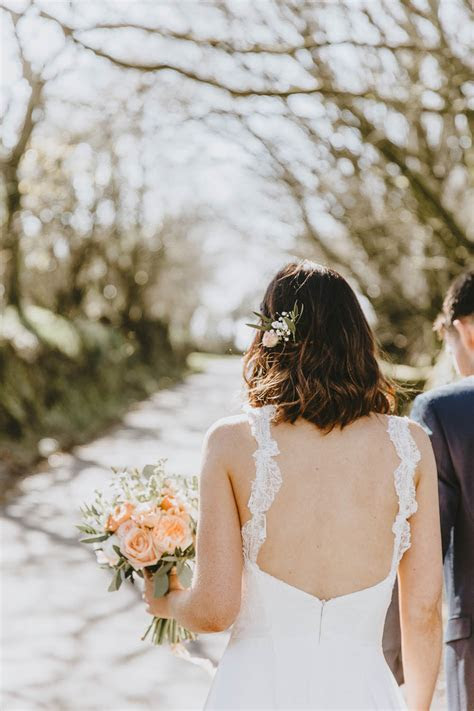 Trevenna Barns Wedding Delightfully Rustic Peach Country