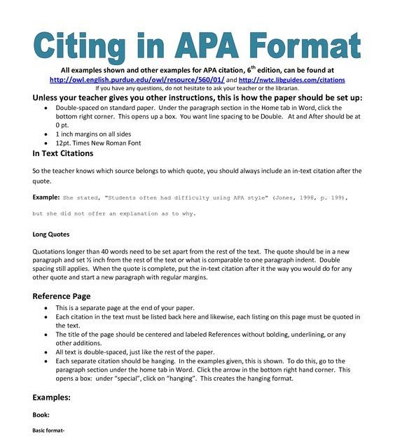 How To Create A Reference Page Apa - Cover Letter
