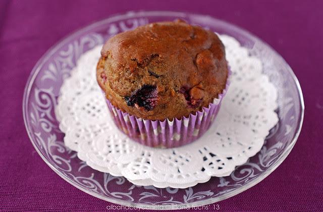 Cherry spelt muffins