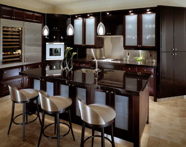 Black Kitchen Cabinets with Glass Doors - Decor IdeasDecor ...