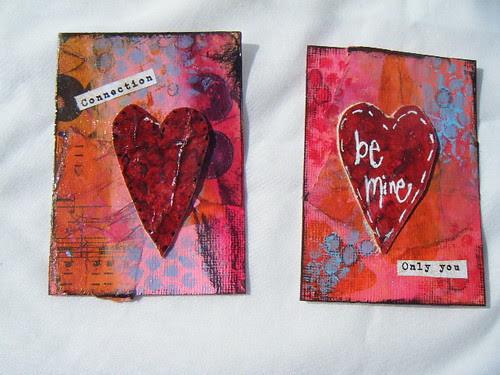My Valentine ATC's
