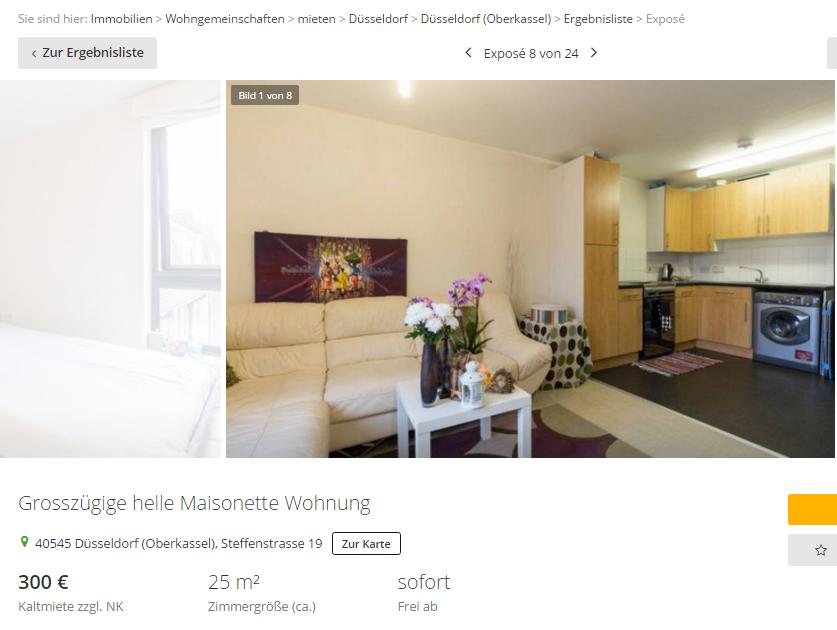 bastian w 85 grossz gige helle maisonette wohnung 40545. Black Bedroom Furniture Sets. Home Design Ideas