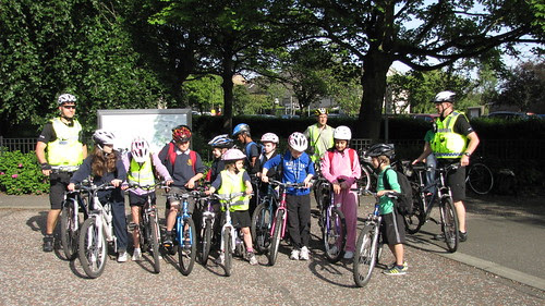 Sciennes Big Cycle ready to set off from KB