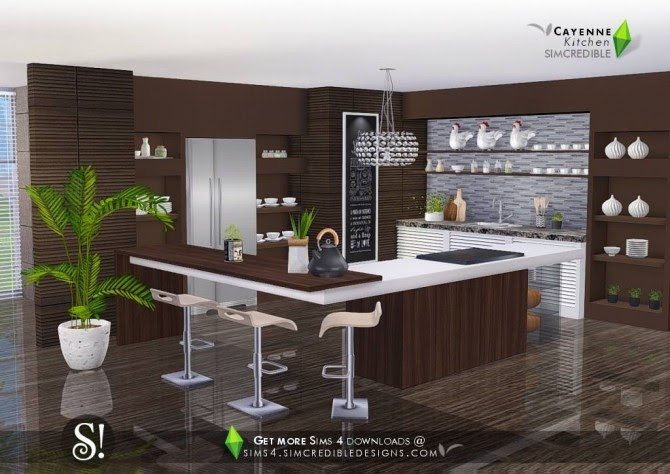 Cayenne kitchen at SIMcredible! Designs 4 » Sims 4 Updates