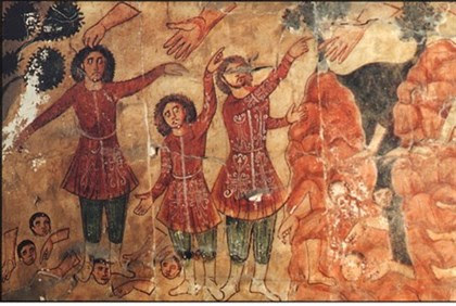 Wall fresco Dura Europos synagogue in Syria