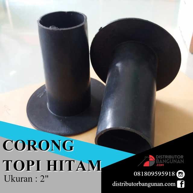 Corong talang 2 hitam Distributor Pipa PVC