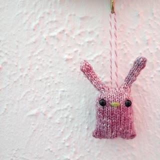 Handspun bunny (handspun I was gifted)