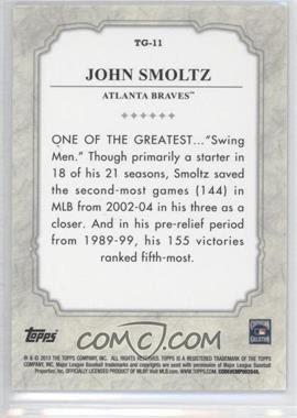 2013 Topps The Greats #TG11 - John Smoltz - Courtesy of COMC.com