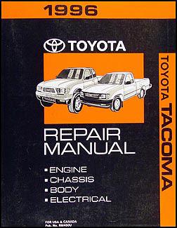 1996 Toyota Tacoma Pickup Wiring Diagram Manual Original