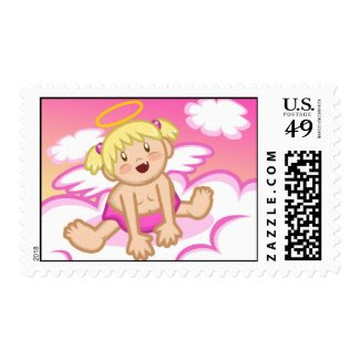 Cheery Baby Girl: Angel Postage