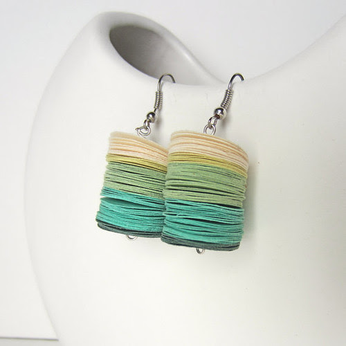 Paper Disc Earrings