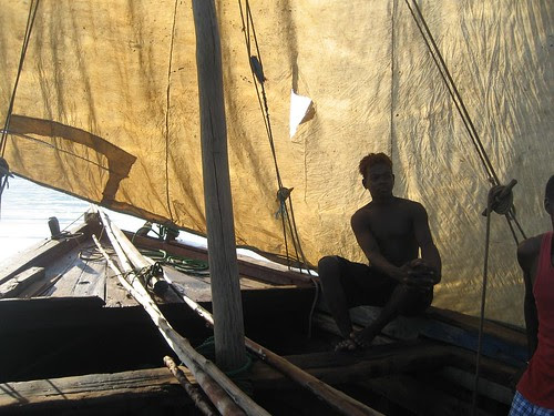becalmed dhow