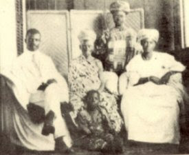 James Aggrey with members of his family during his visit to Ghana with the Phelps-Stokes Commission
