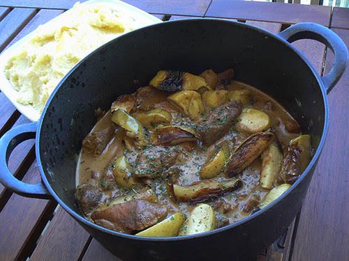 cocotte de porc aux pommes