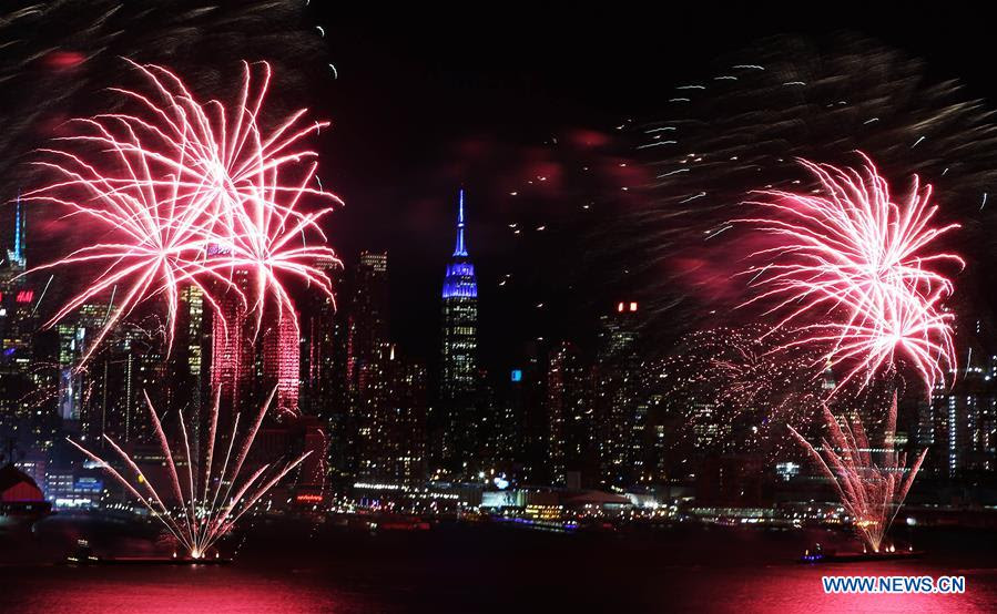 Fireworks Light Up Sky In Nyc To Celebrate Chinese Lunar New Year