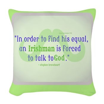 God's Irishman Funny Woven Throw Pillow