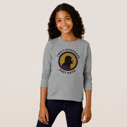 Basic Long Sleeve T-Shirt: Math Smart Cavewoman T-Shirt