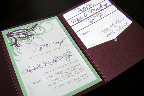 Wedding Invitations Green Purple Flickr Photo Sharing