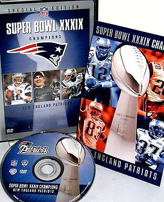 NFL Super Bowl XXXIX New England Patriots 2004 DVD,NEW FREE SHIP Game Highlights