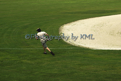 running on the baseball field