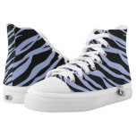 Sky Blue Zebra Striped Printed Shoes