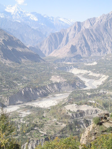 View down to our destination: Baltit Fort, Karimabad