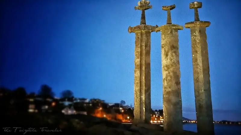Viking Sites, Three Swords Monument, Stavanger, Norway, Viking Monument