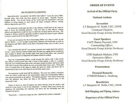 Army Retirement Ceremony Program Samples   Templates