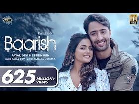 Baarish Ban Jaana Lyrics - Payal Dev, Stebin Ben
