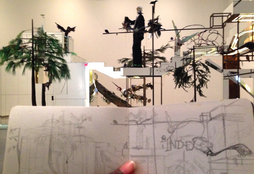 AGO Art Gallery of Ontario Installation David Altmejd The Index Urban Sketching