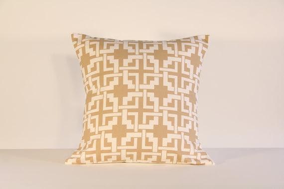 18x18 Designer Tan/ Light Brown Pillow Cover  (FREE SHIPPING)