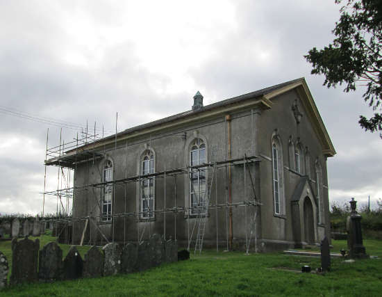 Chapel with scaffold