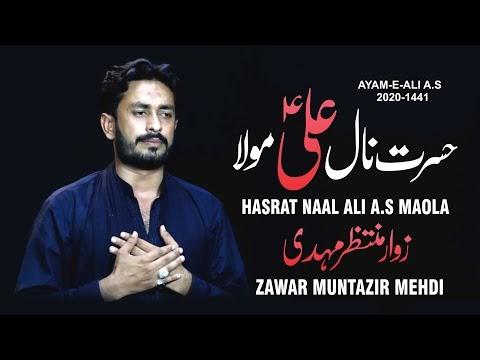 Hasrat Naal Ali a.s Maola | Zawar Muntazir Mehdi | New Noha 21 Ramzan 1441