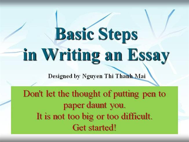 the steps in writing an essay